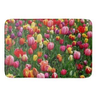 Colorful Tulips Bathmat