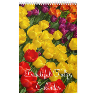 Colorful tulips calendar