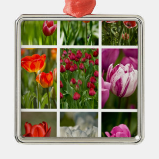 Colorful Tulips Christmas Ornaments