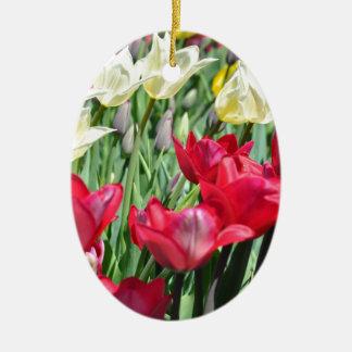Colorful Tulips Ornament