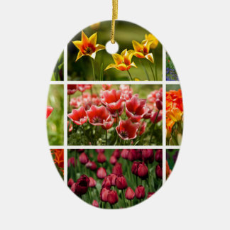 Colorful Tulips Christmas Tree Ornament