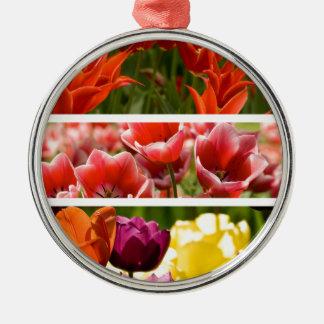 Colorful Tulips Christmas Tree Ornament