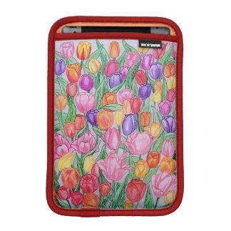 Colorful Tulips Drawing iPad mini 2/3 Soft Sleeve iPad Mini Sleeve