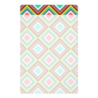 Colorful Turquoise Pink Aztec Native American Gift Customized Stationery