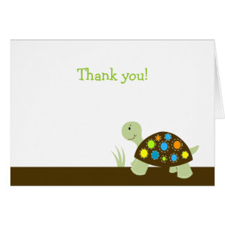 Colorful Turtle Modern Dot Note Card