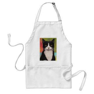 Colorful Tuxedo Cat Standard Apron