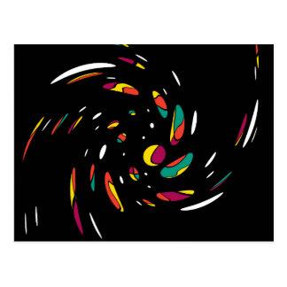 Colorful twist postcard