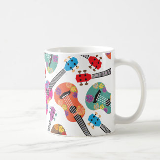 Colorful Ukeleles Basic White Mug