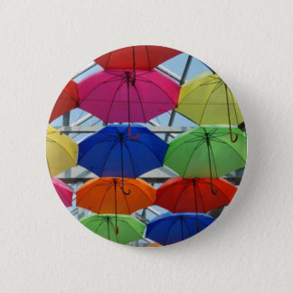 colorful Umbrella 6 Cm Round Badge