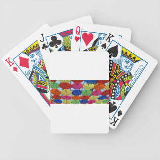 colorful Umbrella Bicycle Playing Cards