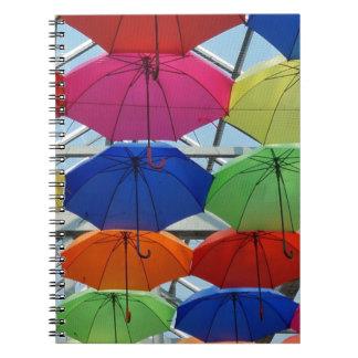 colorful Umbrella Notebook
