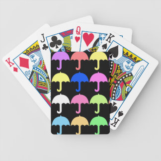 Colorful Umbrellas Bicycle Playing Cards