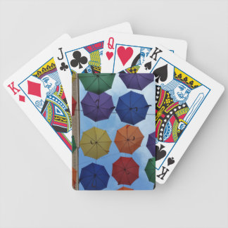 Colorful umbrellas poker deck