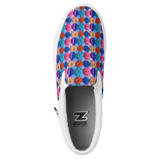 Colorful umbrellas printed shoes