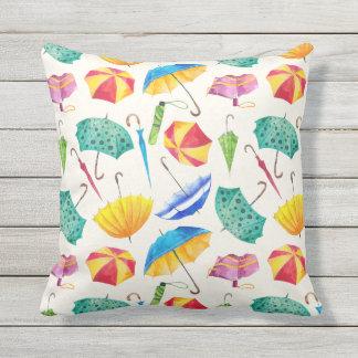 Colorful Umbrellas. Umbrellas Outdoor Cushion