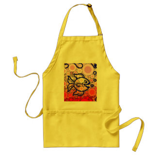 Colorful Under the Sea Bubbly Fish Swimming Mosaic Standard Apron