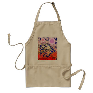 Colorful Under the Sea Bubbly Fish Swimming Mosaic Apron