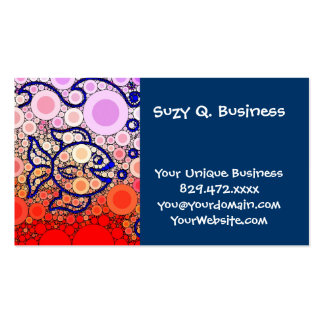 Colorful Under the Sea Bubbly Fish Swimming Mosaic Business Cards