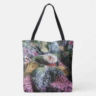 Colorful Underwater Aquarium Coral Reef Tote Bag