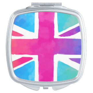 Colorful Union Jack Flag Mirror For Makeup