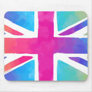 Colorful Union Jack Flag Mouse Pad