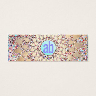Colorful, Unique and Festive Monogrammed Glitter Mini Business Card
