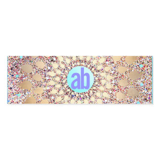 Colorful, Unique and Festive Monogrammed Glitter Pack Of Skinny Business Cards