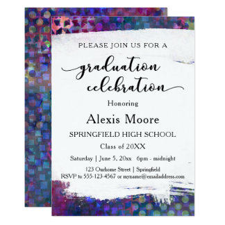 Colorful, Unique Graduation Party Invitation