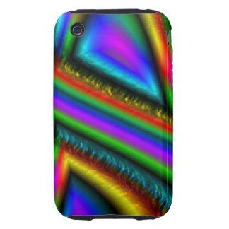 Colorful unique line pattern iPhone 3 tough cover