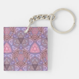 Colorful unique pattern acrylic key chain