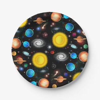 Colorful Universe Astronomy Space Paper Plates
