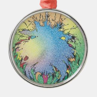 Colorful Universe Metal Ornament