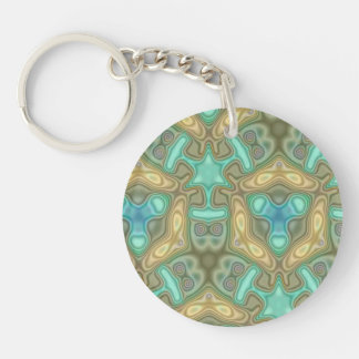 Colorful unusual pattern Double-Sided round acrylic key ring