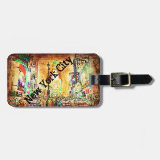 Colorful Urban Grunge New York City Custom Bag Tag