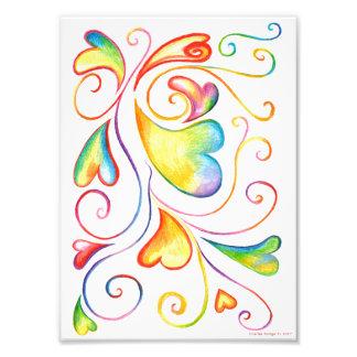 Colorful Valentine Spirals Print Photograph