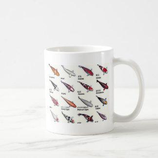 Colorful Varieties of Koi Fish Drawing Pattern Coffee Mug