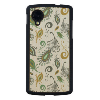 Colorful Various Feathers Carved® Maple Nexus 5 Case