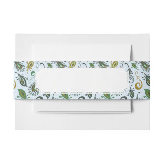 Colorful Various Feathers Invitation Belly Band
