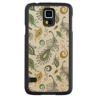 Colorful Various Feathers Maple Galaxy S5 Case