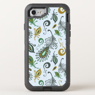 Colorful Various Feathers OtterBox Defender iPhone 8/7 Case