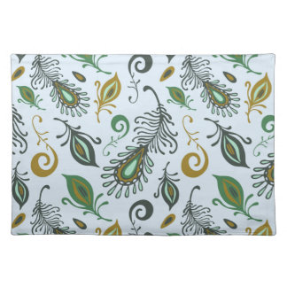 Colorful Various Feathers Place Mat