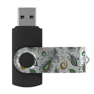Colorful Various Feathers Swivel USB 2.0 Flash Drive