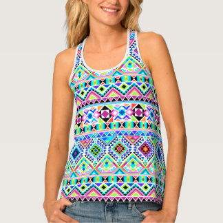 Colorful Various Geometric Shapes Tank Top