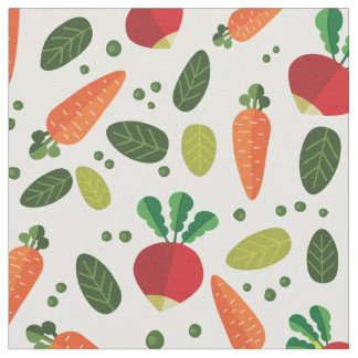 Colorful Vegetables Pattern Fabric