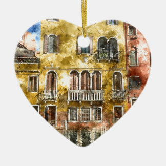 Colorful Venice Italy Buildings Ceramic Ornament