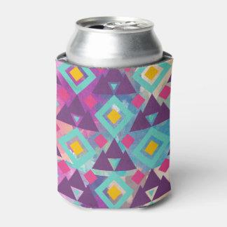 Colorful vibrant diamond shape boho batik pattern can cooler