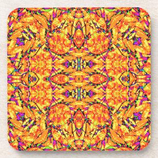 Colorful Vibrant Ornate Coaster