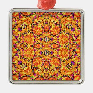 Colorful Vibrant Ornate Metal Ornament