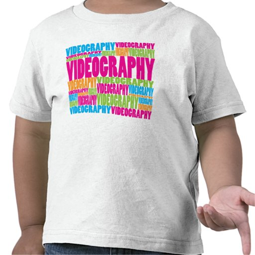 Colorful Videography T-shirts