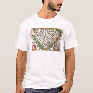 Colorful Vintage Antique Map of Bohemia T-Shirt